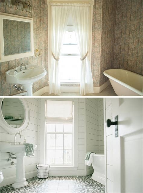 magnolia bathroom before after magnolia s twin bedroom joanna gaines