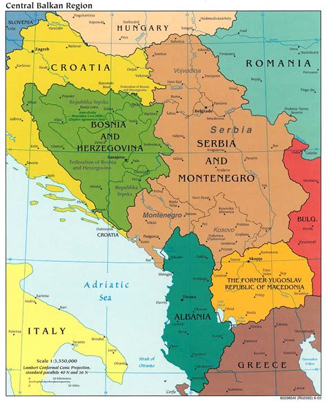 balkans map central balkan political map bosnia mappery