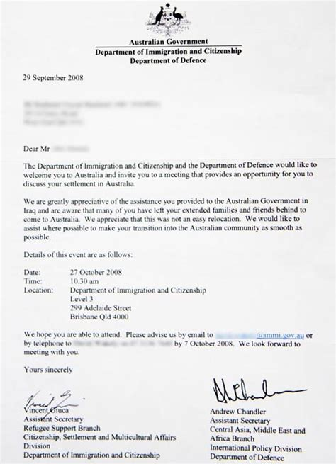 Loan Letter For Australian Student Visa Patriots Traitors Smh Multimedia