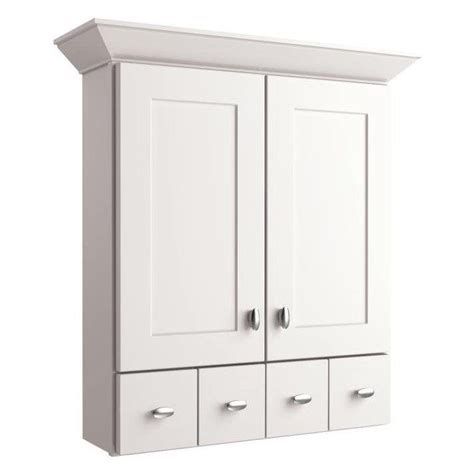 shop diamond freshfit britwell 25 in x 34 in cream allen roth palencia white 34 in painted wall cabinet