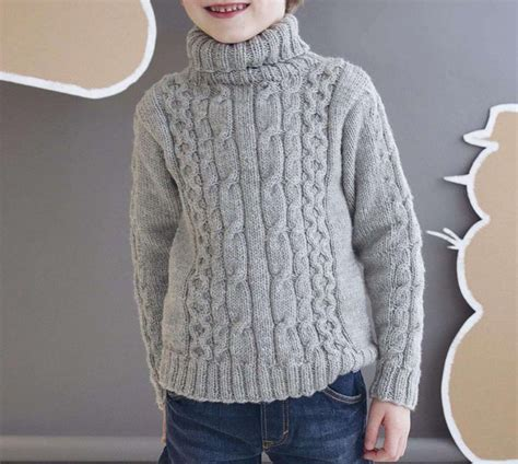 Special Set Jaket Jumper Anak Boy S Stripe Tosca Grey boys roll neck sweater knitting pattern