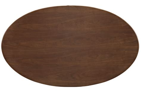 flower tulip oval dining table walnut home  office furniture