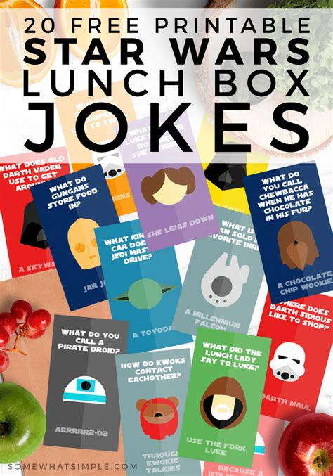 Wars Simple Lunch Box wars lunch ideas free printable jokes somewhat simple