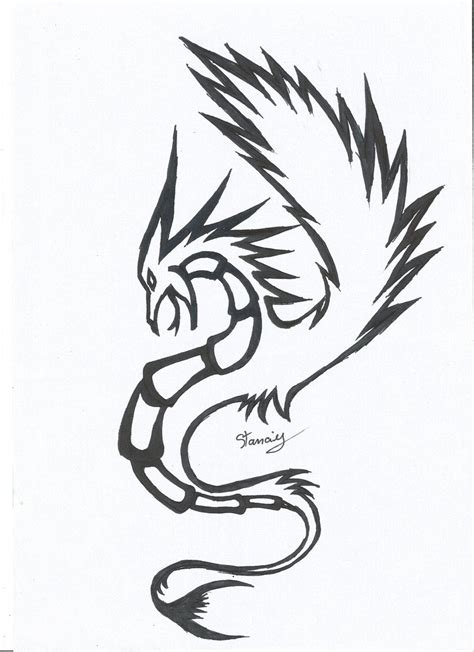 dragon tattoo images easy dragon tattoo simple sketch www imgkid com the image