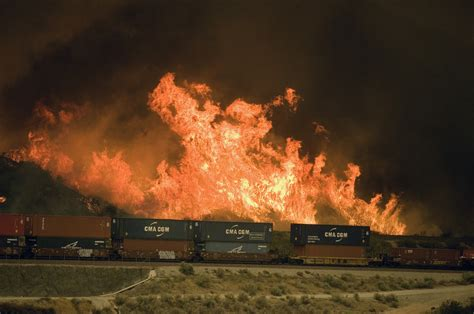The On Socal Fires by California Fires Cause Increase In Truck Traffic In