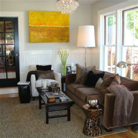 brown couch gray walls design ideas pictures remodel