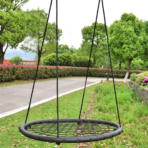 round and round swing 40 quot kids tree swing round net outdoor garden children