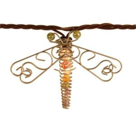 Dragonfly String Lights Outdoor 10 Bulb Incandescent Beaded Dragonfly String Lights