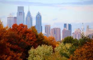 in color philadelphia philadelphia skyline autumn 2013 fall colors and the