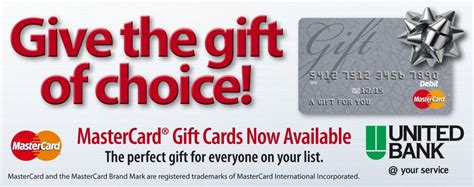 Non Reloadable Mastercard Gift Card - united bank business checks gift cards