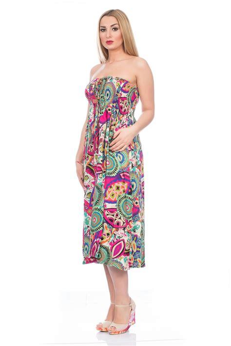 Midi Maxi Dress bright summer sun dress midi maxi uk womens ebay