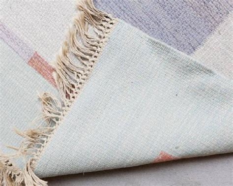 swedish plastic woven rugs woven swedish rug in pastel colours for sale at 1stdibs