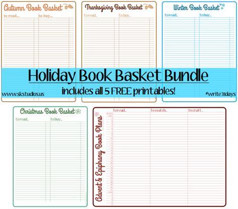 sk studios homemaking 31 days advent calendar bonus sk studios homemaking 31 days holiday book basket lists