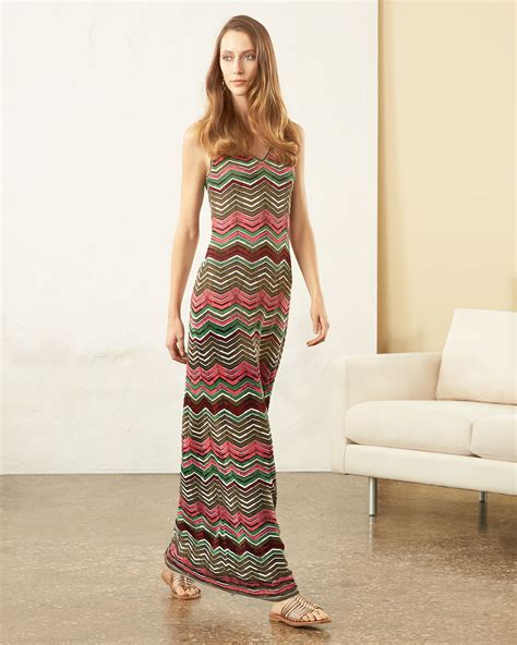 Zigzag Maxi Dress lyst m missoni sleeveless zig zag maxi dress