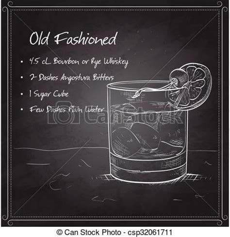 old fashioned cocktail drawing old fashioned drink clip art 56