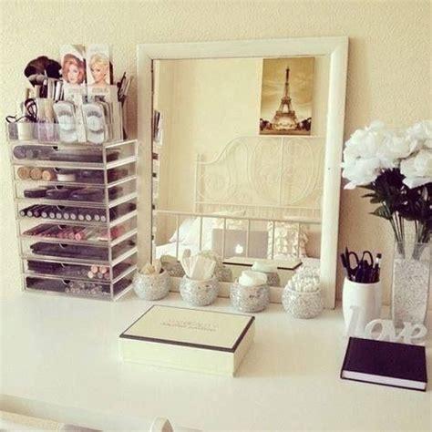 organized vanity tidy makeup vanity everything pinterest makeup