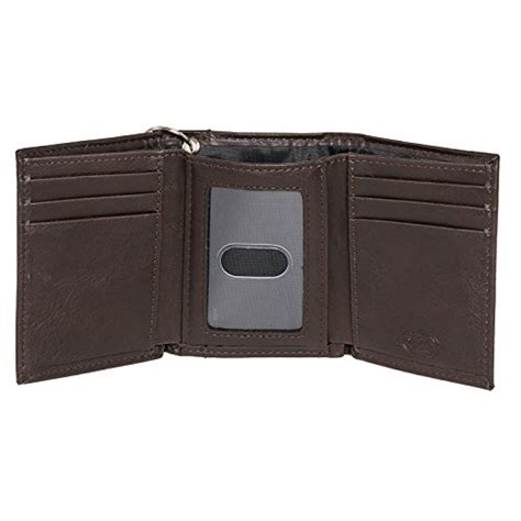 dickies s trifold chain wallet brown one size