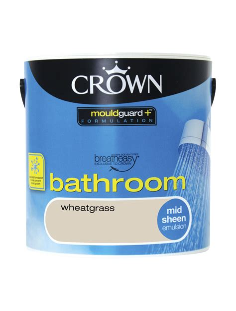 wheatgrass mid sheen bathroom crown paints