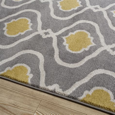 gray yellow rug world rug gallery alpine gray yellow area rug reviews wayfair