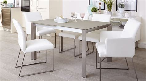Frosted Glass Dining Room Table by Dining Room Extending Table And Chairs Grey Frosted Glass