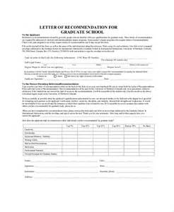 School Admission Letter Of Recommendation Letters Of Recommendation For Graduate School 38 Free Documents In Pdf Word