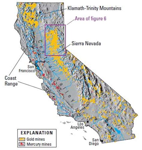 california map of rivers river map california