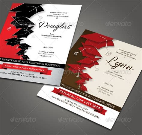 graduation invitation templates invitation template psd for birthday bbq