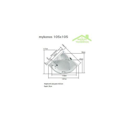 Baignoire 90x90 by Baignoire D Angle Acrylique Mykonos 90x90 Cm 105x105 Cm