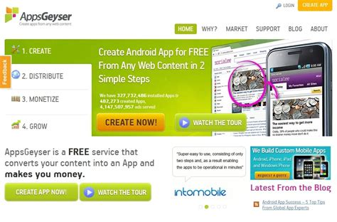 Create App Online the top 4 websites to create android apps online for free