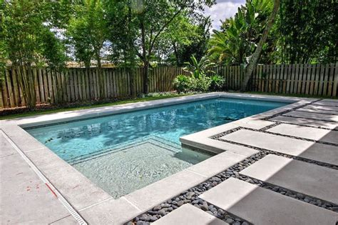 Dining Room Furniture Orlando Contemporary Poured Concrete Pool Deck Contemporary