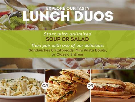 Lunch Specials Olive Garden - olive garden lunch menu prices