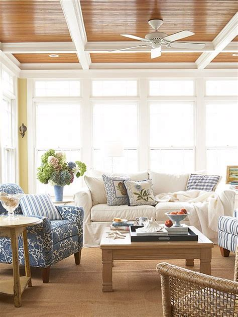 Sunroom Ceiling Ideas by Porches Sunrooms Sisal Rugs Charms And Window Wall