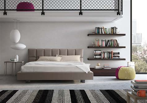 camere da letto in pelle letti moderni pelle
