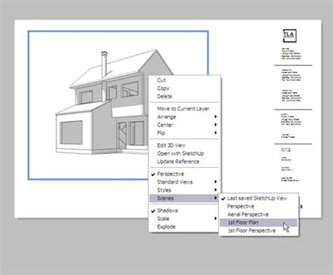 sketchup layout file how to include sketchup model views in layout documents