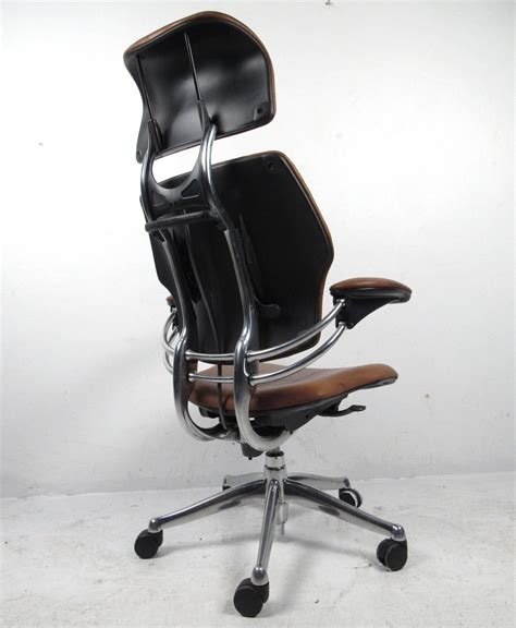 Leather Desk Chairs Swivel by Midcentury Style Ergonomic Leather Swivel Desk Chair At