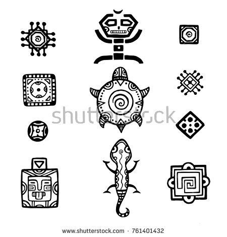 mayan inca tattoo tribal stock images royalty free images