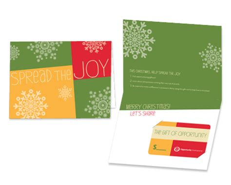 Gift Card Spread - opportunity international quot spread the joy quot gift card