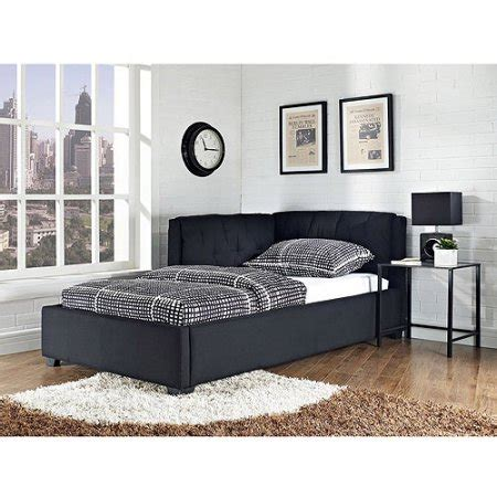 Size Lounge Bed by Tufted Lounge Reversible Bed Black Walmart