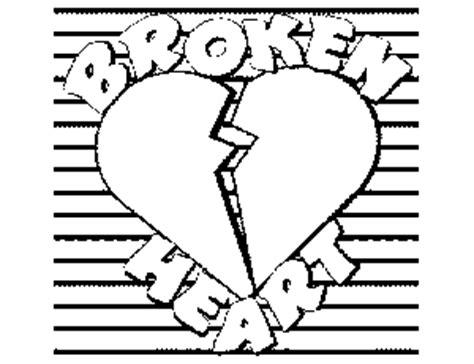 broken heart coloring page pin broken heart coloring sheet on pinterest