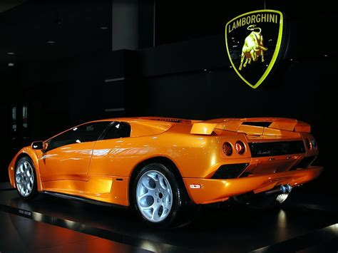 lamborghini diablo orange orange lamborghini diablo desktop wallpaper