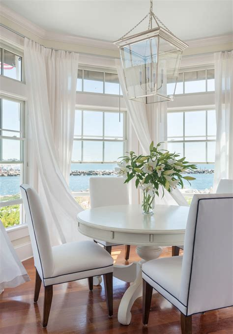 cool dinette chairs  dining room beach style  white