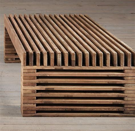 reclaimed timber slat coffee table restoration