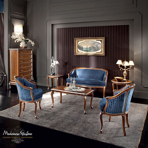 walnut office with briar root decorations and blue velvet