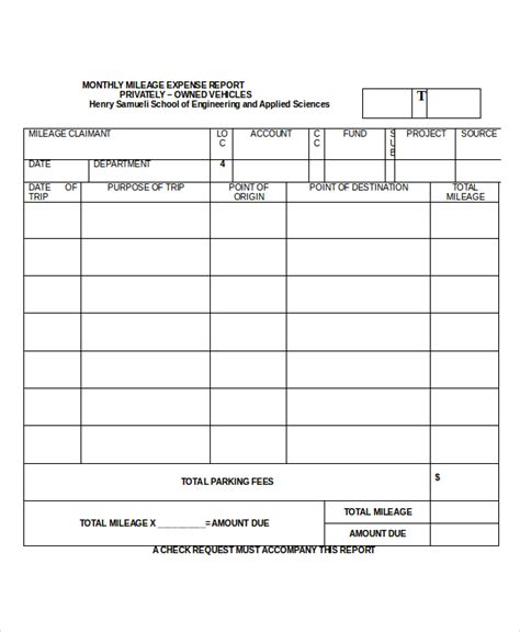 mileage expense report template excel expense report 11 free word excel pdf documents
