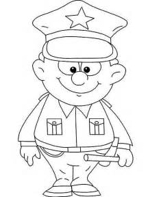 cute little police officer picture coloring page netart