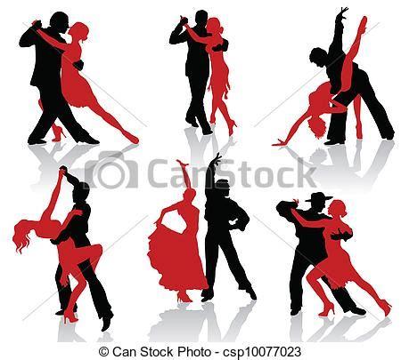 dibujos de bailes de salon ilustraciones de vectores de sal 243 n de baile bailes tango