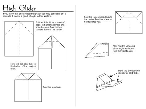 printable directions to make paper airplanes paper airplanes high glider how to pinterest make
