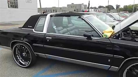 blacked out oldsmobile cutlass on 24 irocs black t top oldsmobile cutlass supreme on asanti s