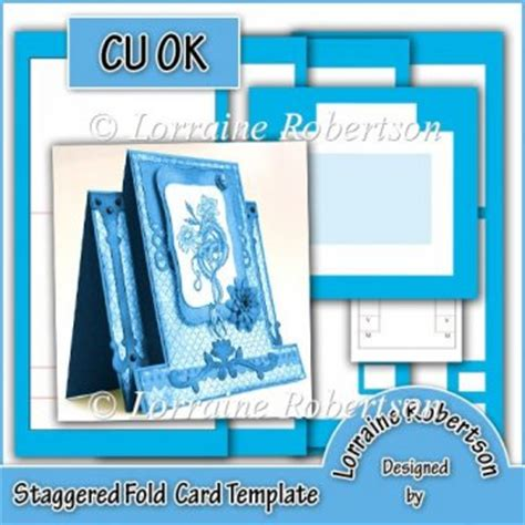 two fold greeting card template staggered fold card template cu 163 2 00 instant card