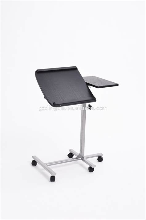laptop desk with wheels portable folding laptop table desk stand with wheels black